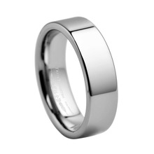custom engraved names or patterms rings Flat Style Polished Finish Tungsten Carbide Band Width - 6MM TURI0004M(China)