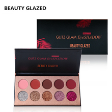 BEAUTY GLAZED  Long-lasting Matte Eyeshadow Easy To Wear Cosmetics Natural Matte Shimmer Natural Palette 10 Colors In 1 Hot Sale