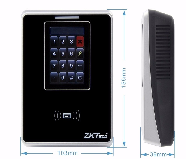 RFID time &amp; attendance terminal with 3 TFT LCD SC700 zkteco<br><br>Aliexpress