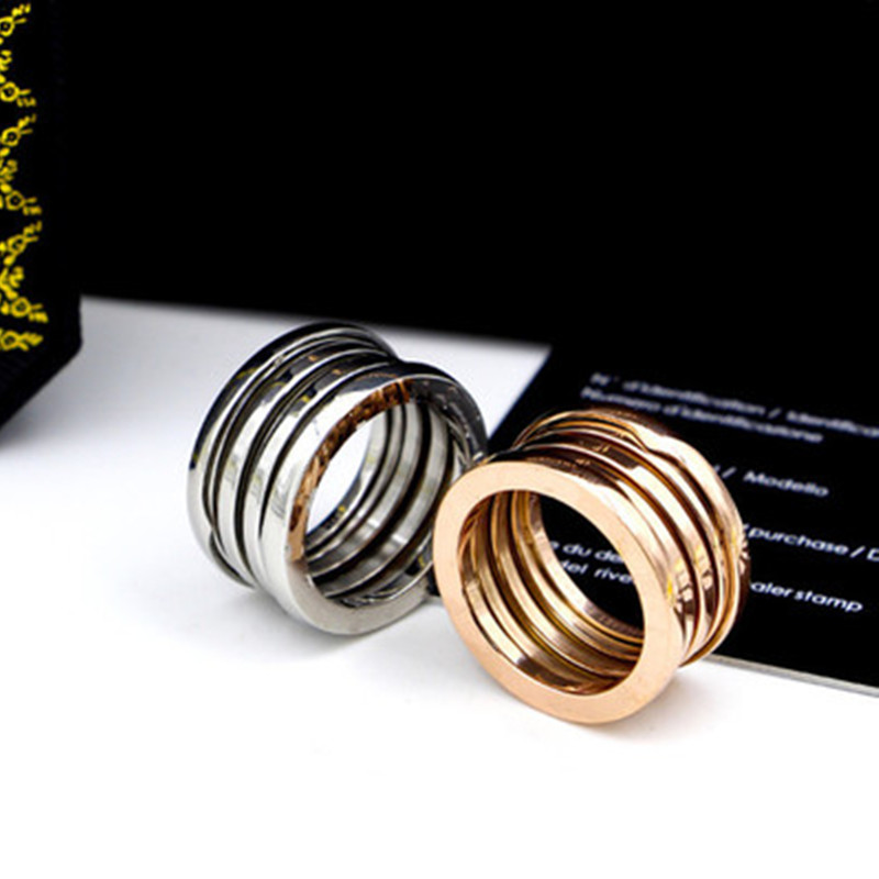 Hot sell Luxury brand spring ring jewelry Bulgaria rings women men best gift