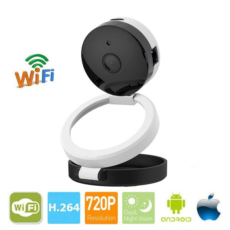 1.0MP Mini IP Camera Wifi Camera 720P IR Night Vision Wireless Camera Two-way Audio Mobile Free APP Remote<br>