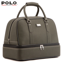 New Brand POLO Golf  Double Clothing Shoes Package Travel Bag Bolsas Zapatos Golf PU Waterproof Golf Shoes Bag Cover Uomini 2017