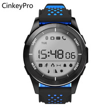 CinkeyPro Sports Smart Watch Men LED Digital Outdoor Smartwatch F3 Pedometer Notifier Sync for Apple iPhone iOS Android