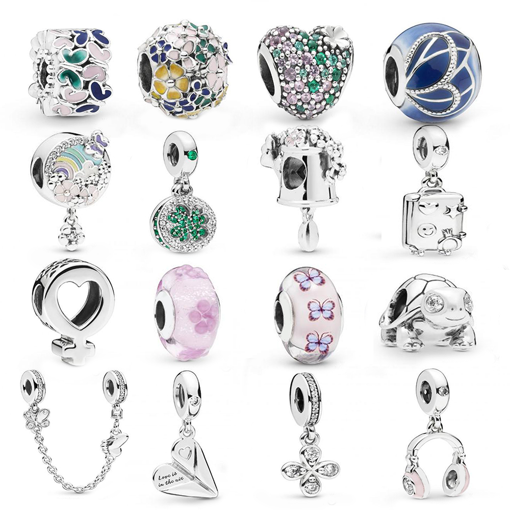 Generous Zoudky New 100% 925 Sterling Silver Winter Series Space Christmas Astronaut Charm Planet Bead Elegance Dazzling Fireworks Charm Beads