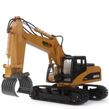 HuiNa 570 2.4G 1/12 RC Excavator 1:12 16 Channels Metal Charging RC Car 16CH Model Toys(China)