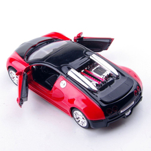 1:36 Scale Model Bugatti Veyron Diecast Car Model With Sound&Light Collection Car Toys