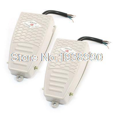 2 Pcs AC 380V DC 220V SPDT Momentary Control Foot Pedal Switch EKW-5A-B<br><br>Aliexpress