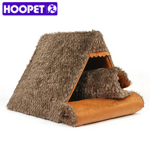 Hoopet Pet Dog Cat Bed Soft Warm Cushion Furniture Cushion Triangle Warm  Kennel Couch Bed