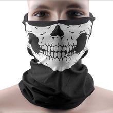 Fashion Dust Mask Skeleton Ghost Skull Pattern Face Mask Biker Of Duty Cos Costume Game Black Drop Shipping SC-0074-BK