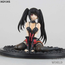 DATE A LIVE Nightmare Tokisaki Kurumi Sitting position Sexy PVC Action Figure Model Toys Anime Brinquedos Collection Gift 10cm(China)