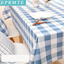 1 pc 90x90cm Europe modern Christmas Tablecloths eprmte table linen Household rectangle cloth plaid desk table covers customized(China)