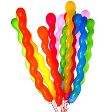 Hot Sales 10Pcs Long Thicken Screw Thread Latex Balloon Float Balls Wedding Birthday Party Balloon Decoration free shipping
