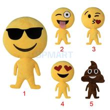 Cute Emoji Pillow Short Plush Stuffed Lovely Smiley Emoticon Doll Cushion Soft Toy Kids Play Fun(China)
