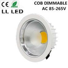 5W 7W 10W 12W 15W 20W 30W 40W 50W 60W  COB downlight Dimmable Recessed LED Ceiling Lamp Spot Light White/warm led lamp cree