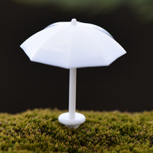 1 Pcs Mini White Umbrella Micro Landscaping Decor Figurines For Home Garden Flower Pot DIY Craft Accessories P30(China)