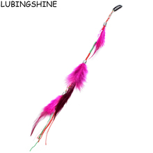 LUBINGSHINE Long Feather Hair Clip Hairpin Headband Hair Extension Feathers Hair Accessories Jewelry Wig JJAL ZH114(China)