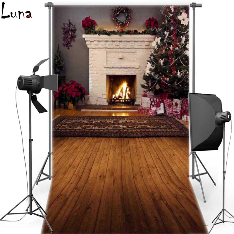 Christmas Vinyl Photography Background Rug Fireplace Oxford Backdrop For Children photo studio Props 247<br><br>Aliexpress