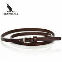 2017 New Design Brand Belts Lady's Slender Waist Belt Women's Strap Genuine Leather Casual Female Girdle for Skirts Dress Girls(China)