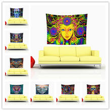 Fashion Psychedelic Art Print Tapestry Wall Hanging Tapestries Boho Bedspread Beach Towel Yoga Mat Blanket Table Cloth 210*150cm