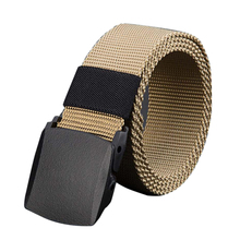 Limit buy Men's Belt No metal Plastic buckle canvas  belts casual jeans belt