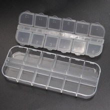 Practical Storage Box 12 compartment empty plastic Storages case container box for nail art products rhinestone earring jewelry(China)