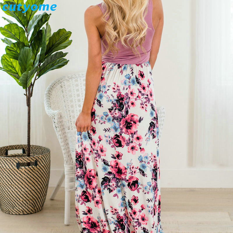 Summer Family Matching Outfits Mother and Daughter Dresses Patchwork Dress Kids Mom Daughter Floral Dress Matching Clothes 2018 (17)