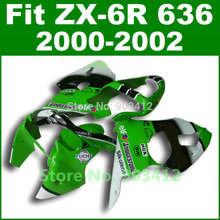 Green FUCHS paint for Kawasaki ZX6R fairing kit 2000 2001 2002 00 01 02 Ninja ZX 6R 636 Fairings body kits ZX636 G5M2