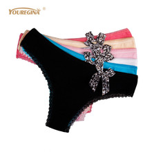 Buy YOUREGINA Woman Underwear Cotton Leopard Thongs Womens Panties Strings Sexy Tangas Mujer G String Sexy Women Briefs 6pcs/lot