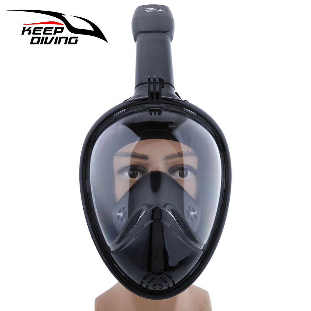 KEEP DIVING Snorkel Mask Silicone Diving Mask Anti Fog Swimming Mask With Gopro Stand Of Diving Equipment M/XL Size 4 Colors<br>