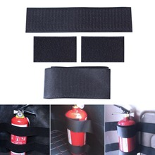Car Styling 4pcs/set Car Trunk Receive Store Content Bag Storage Network Fixed Fire Extinguisher Magic Strip Fixed Belt