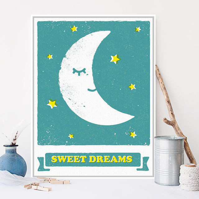 Sweet-Dreams-Blue-Modern-A3-Poster-Print-Calm-Cartoon-Moon-Star-Picture-Large-Canvas-Painting-Kids.jpg_640x640