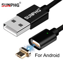 Buy SUNPHG Magnetic Charger Cable Android 2m Fast Charging Line Nylon Braided Magnet Data Wire Durable Samsung Huawei Xiaomi for $3.77 in AliExpress store