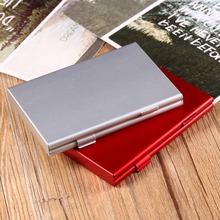 1Pcs Red Color Portable Aluminum for 6x SD Memory Cards Storage Box Case Holder Protector Easy Carry Memory Card Cases(China)