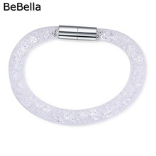 BeBella new dust crystal bracelet filling with colored crystals for Christmas gift in 8 colors(China)