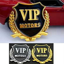 VIP golden slivery color for engine window door etc metal car sticker auto parts automobile accessory car decoration