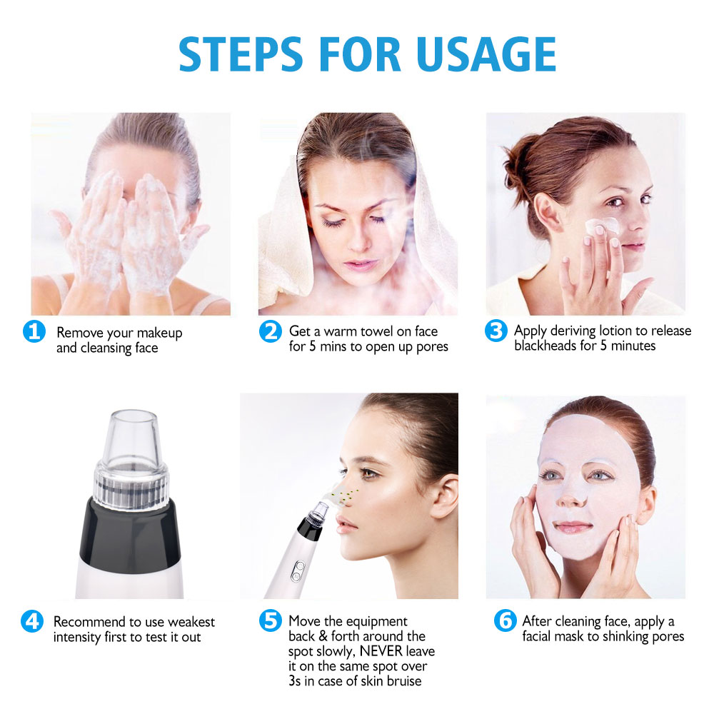 Person - Blackhead Remover Vacuum Pore Cleaner Electric Nose Face Deep Cleansing Skin Care Machine