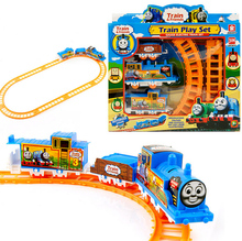 Free Shipping Thomas the Train Friends Motorized Battery Train Track Orbital Electric Train Rail Car Baby Children Toy Gift