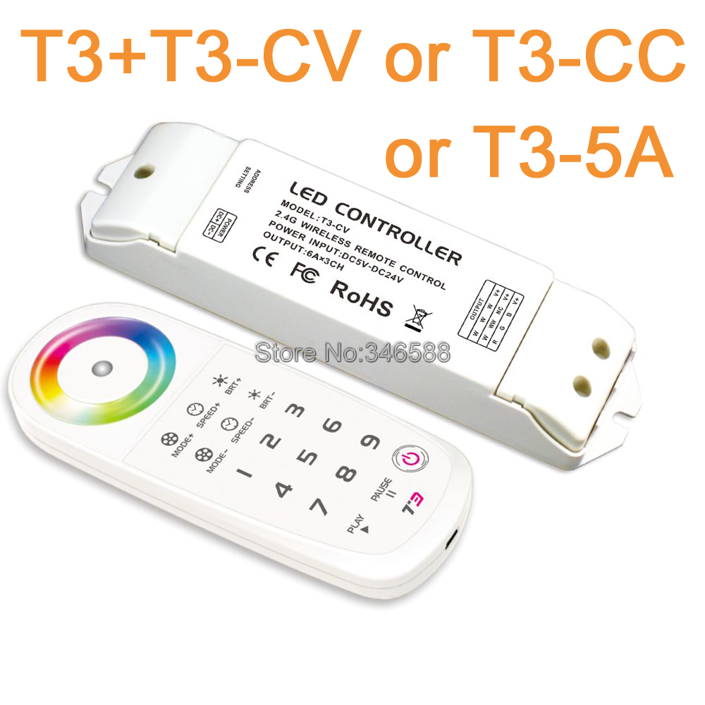 LTECH T3 2.4G LED Touch Panel RGB LED Remote Sync Zone Control Built-in Lithium Battery &amp; T3-CV or T3-CC Receiving Controller<br><br>Aliexpress
