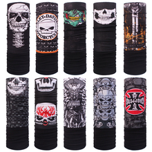 Skull fleece polar bandana autumn winter thermal thicken skull Polar Bandana Buffe outdoor magic muffler scarf Fleece face mask