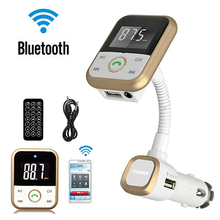 LCD Car Kit Bluetooth MP3 Player SD USB Remote FM Transmitter Modulator Remote Store 47(China)