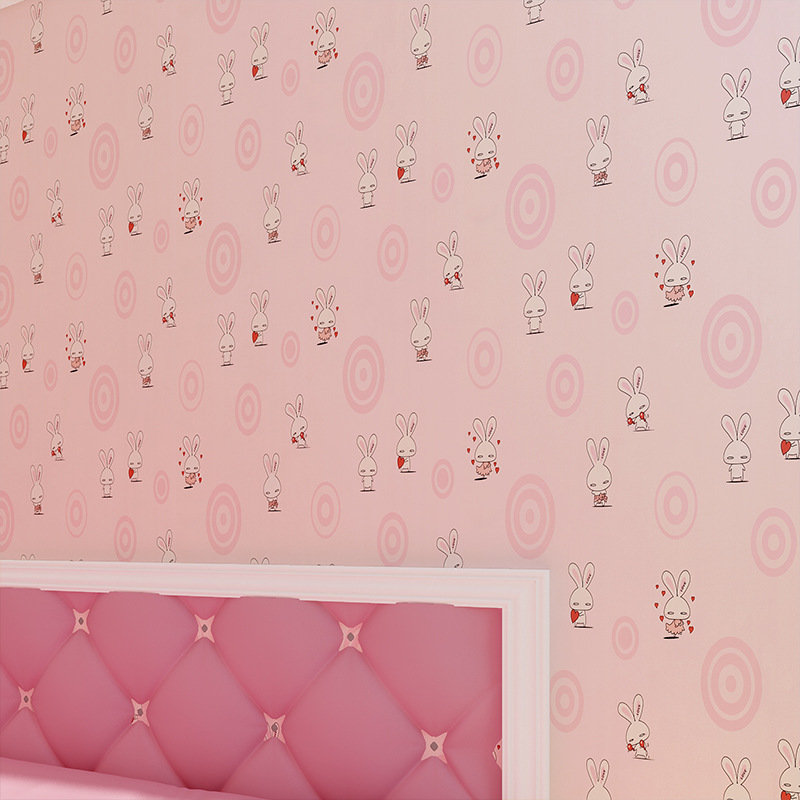beibehang papel de parede 3D wallpaper roll living room contact paper love rabbit Vertical Kids Child For Wall for living room<br>