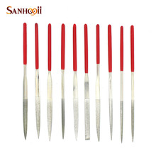 SANHOOII 10pieces/lot 140mm Diamond Mini Needle File Set Hand Tools Kit For Crafts Ceramic Glass Gem Stone Hobbies Tools(China)