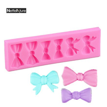 Non-Stick DIY Chocolate Dessert Mould Silicone Mold Fondant Mold Baking utensils Three Kinds Of Bow Shape Cake Decoration Tools(China)