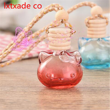 Free Shipping 10ml Glass Cat Empty Bottles Car Perfume Pendant New Style Top Grade  Essential Oil Parfume  Packaging Containers