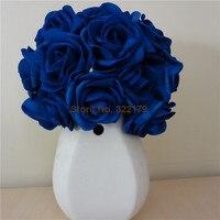Bulk foam flowers shop cheap bulk foam flowers from china bulk 100x artificial flowers royal blue roses for bridal bouquet wedding bouquet wedding decor arrangement centerpiece wholesale mightylinksfo