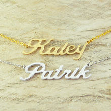 Custom Alloy necklace name necklace special gift for your love unique gift personalized necklace(China)