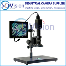 Best Sale,SmartPhone/Watch Repair 20X-200X LCD VGA Zoom Video Microscope Lens+Stand +VGA Camera + LED Ringlight  China