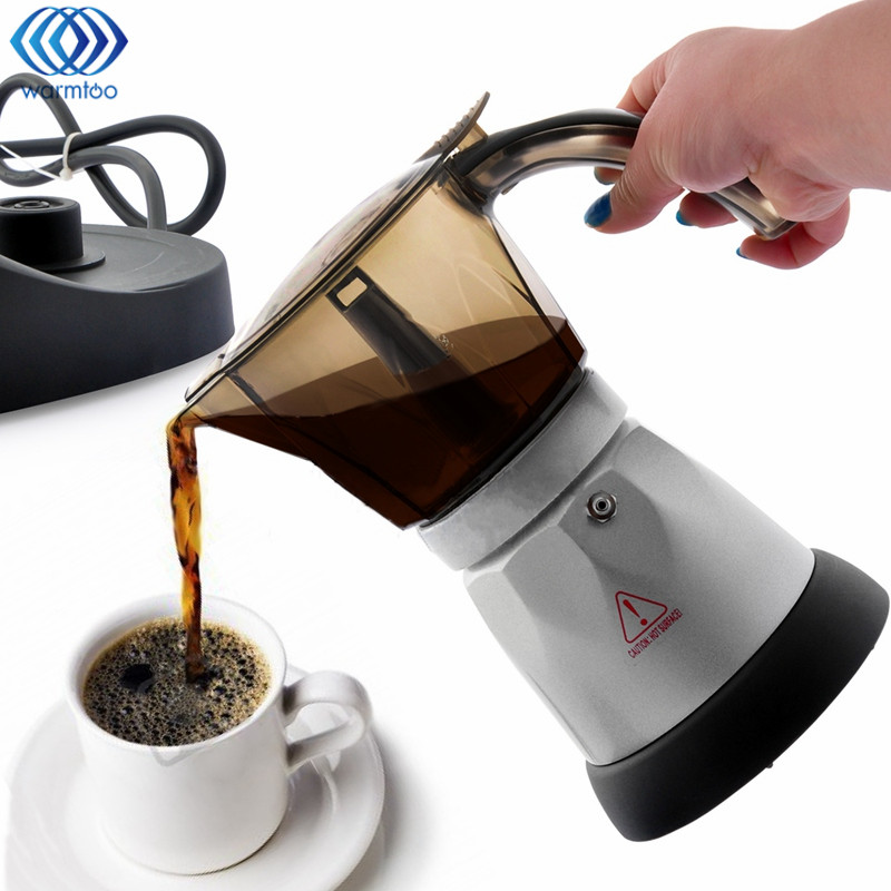 Coffee Maker French Press Cafetiere 4 Cups Electric Fully Automatic 3 minutes Coffee Machine Tea Pot Kettle AU Plug Home Office<br>