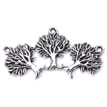 10pcs/lot 22mm x 17mm Tree Charms Antique Silver Beautiful Detail for diy charms necklace pendant jewelry accessories findings