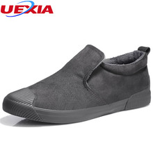 UEXIA New Fashion Novelty Mens Shoes Set Foot Men Shoes Driving High Top Solid Suede Leather Casual Winter Male Footwear Loafers(China)